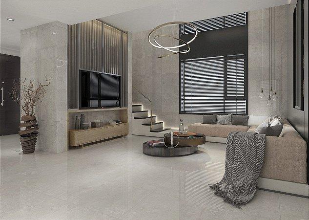 Porcelanato Mármore Acetinado Exclusive Cement Blanc (62×62)