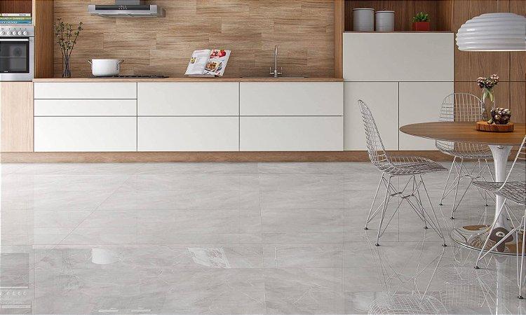 Porcelanato Mármore Polido Esmaltado Exclusive Marmi Sitelsvilver Lux Plus (82×82)
