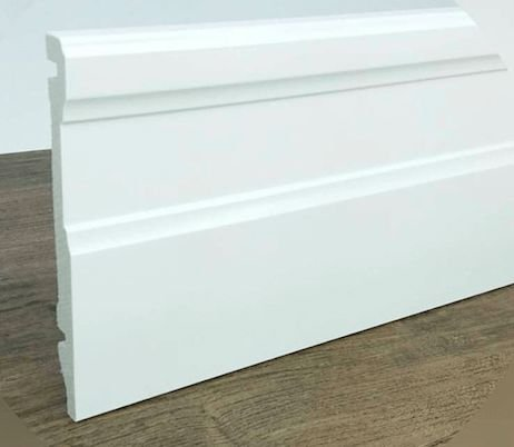 Rodapé de Poliestireno Multiuso 150 x 15 mm – Laqueado e Resistente a Umidade