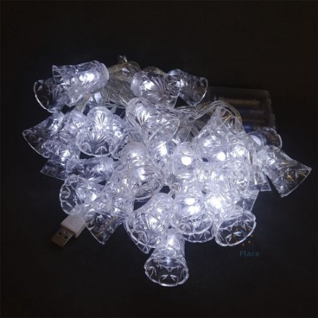 Luminária Varal De Luz Enfeite De Sino De Natal Bivolt