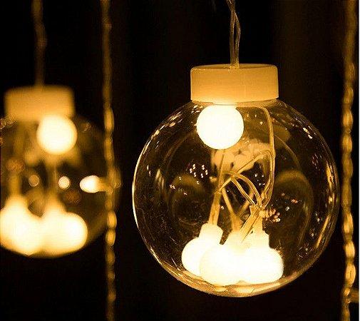 Cascata De Luz Bola De Luz 108 Leds Branco Quente Bivolt