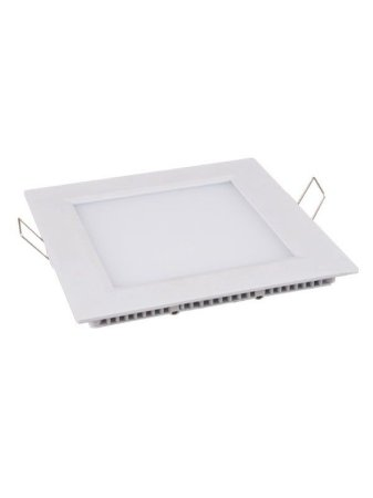 Luminaria Plafon Led Embutir 6W quadrada branco frio