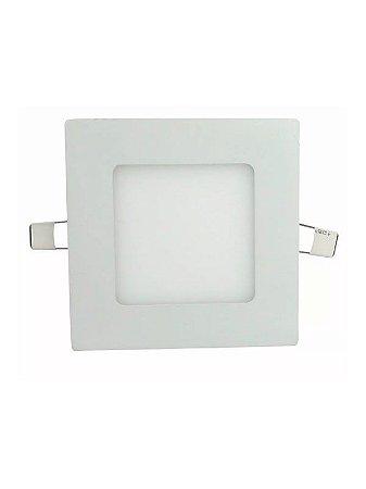 Plafon Led Embutir 6W quadrada branco quente