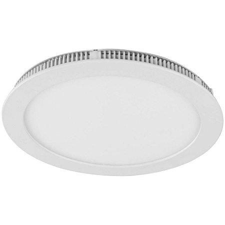 Luminaria Plafon Led Embutir 25W redonda branco frio