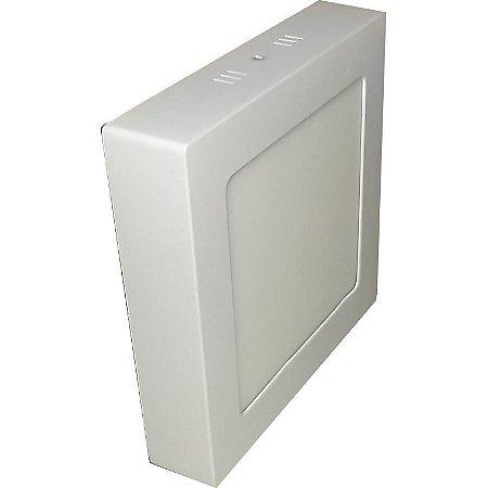 Luminária Plafon Led Sobrepor 18W quadrada branco frio