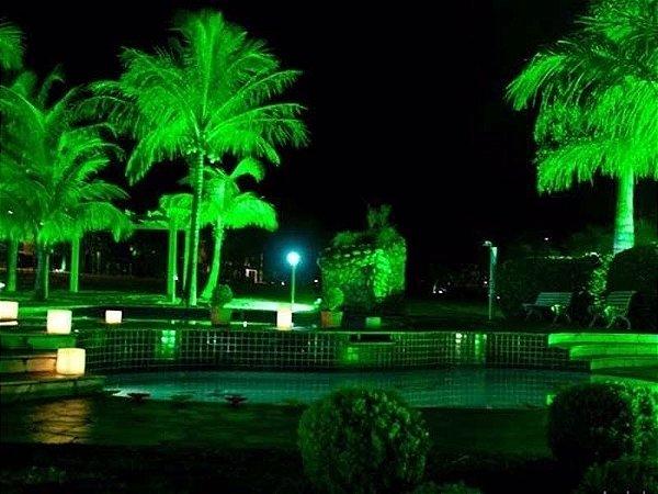 Refletor Holofote Led 20w Verde Prova D'água Bivolt Cob