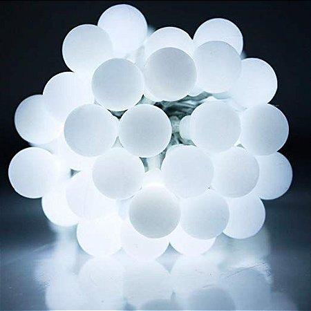 Cordão Fio De Luz Luminária 20 Bolas Branco frio 110V