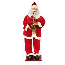 Papai Noel Gigante Dança Saxofe 180cm Sensor De Movimento