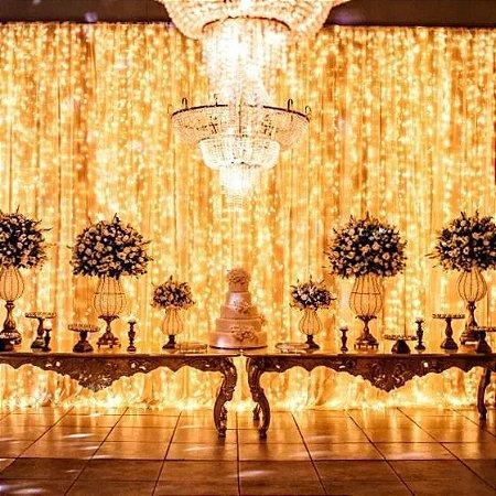 Cortina de Led fixa 5,5 X 3 Mts 900 Leds luzes casamentos e festas