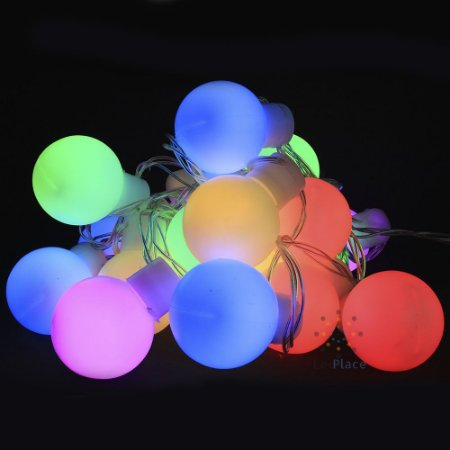 Cordão Fio De Luz Luminária 20 Bolas colorido Bivolt luz fixa