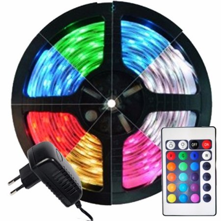 Fita de Led Colorida RGB 50x50 Completa com fonte e controle Completa