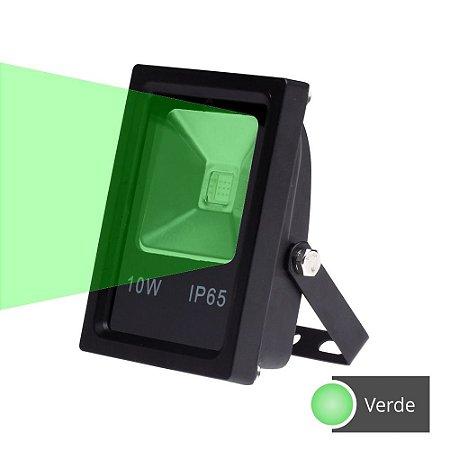 Refletor Led 10W Verde SMD Holofote Microchip