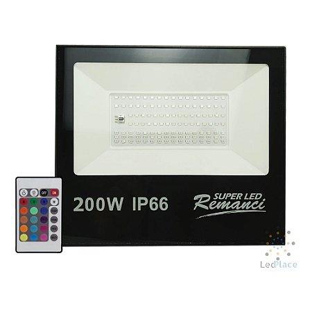 Refletor Holofote Led 200w RGB Prova D'água Bivolt