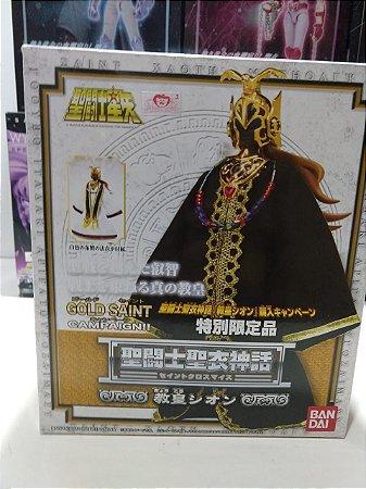 Cavaleiros Zodiacos Cloth Myh Grande Mestre Grand Pope Shion Bandai 1.0 Versão Trono Dourado ( usado )