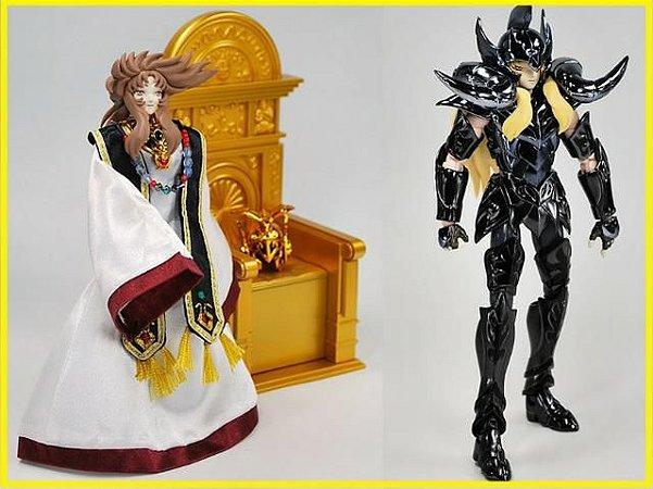 Cavaleiros Zodiacos Cloth Myh Shion Oce Bandai 1.0 Versão Asia Trono Dourado ( usado )