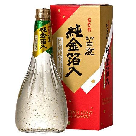 Sake Hakushika Cho Tokusen Kuromatsu Yamadanishiki Gold Junmai 720ml