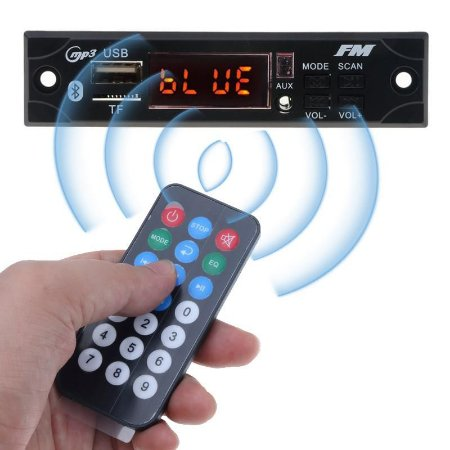Placa Decodificadora MP3  com Bluetooth, entradas USB/SD/AUX com Controle Remoto + Placa amplificadora TDA7297