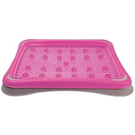 Sanitário Higiênico Pipi Tapete Plast Pet Rosa