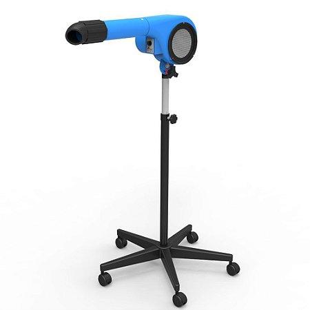 Secador Minag Profissional com Pedestal Azul 127v