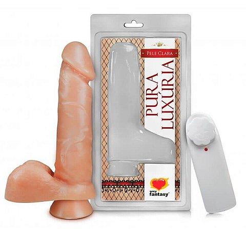 Pênis com Escroto, ventosa e Vibração (PV024)