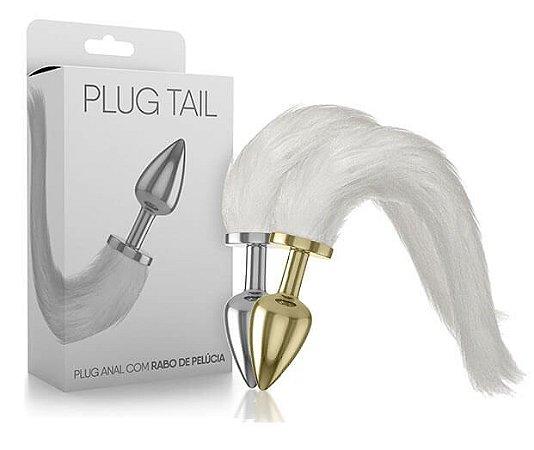 Plug Tail Rabo Branco