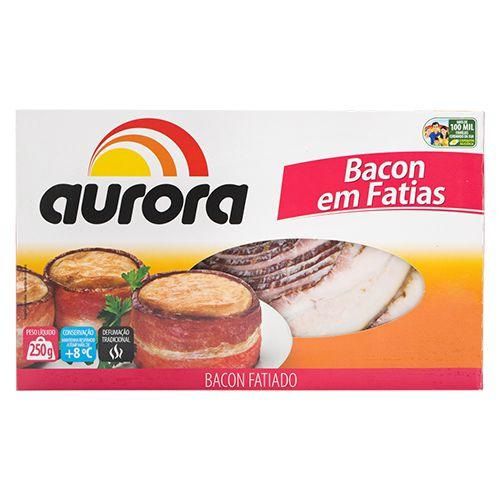 BACON FATIADO AURORA 250G