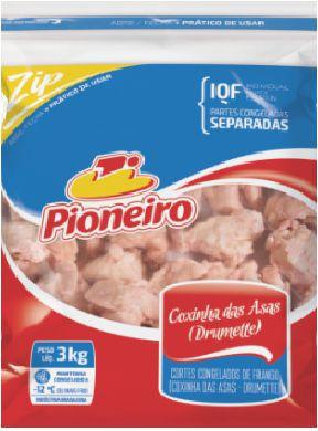 COXINHA DA ASA PIONEIRO IQF 3KG DRUMMETE