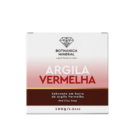 Bothanica Mineral Sabonete Barra de Argila Vermelha 100g