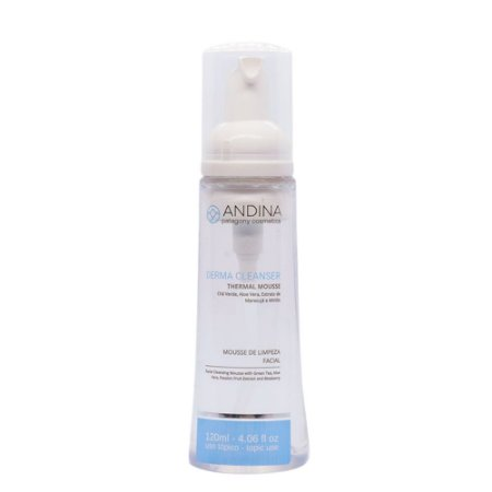 Andina Cosmetics Limpeza Facial Thermal Mousse 120ml