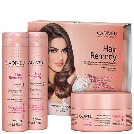 Cadiveu Hair Remedy Kit Shampoo 250ml + Condicionador 250ml + Máscara 200ml