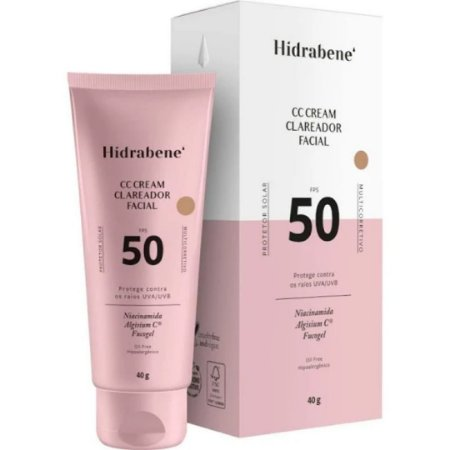 Hidrabene CC Cream Clareador Facial FPS 50 40g