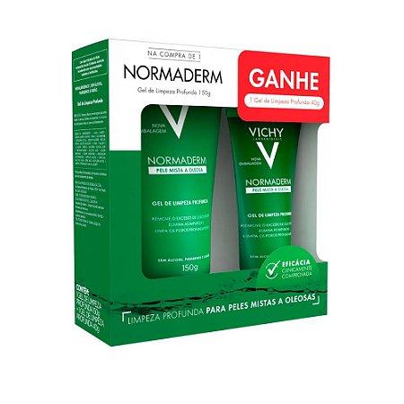Kit Vichy Normaderm Gel de Limpeza Profunda 150g + Gel de Limpeza 40g