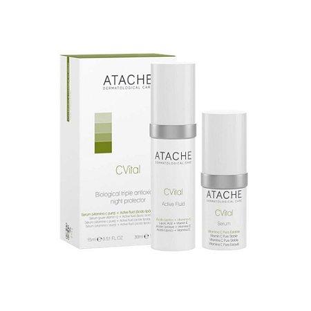 Atache Sérum Facial Anti Idade Vitamina C Ácido Lipóico Original 30ml