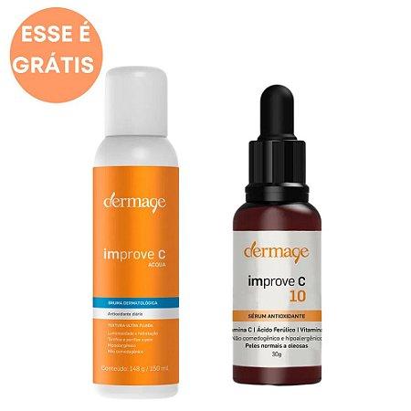 Dermage Kit Sérum Antioxidante Improve C10 30g + Bruma Improve C Acqua 150g + Necessáire