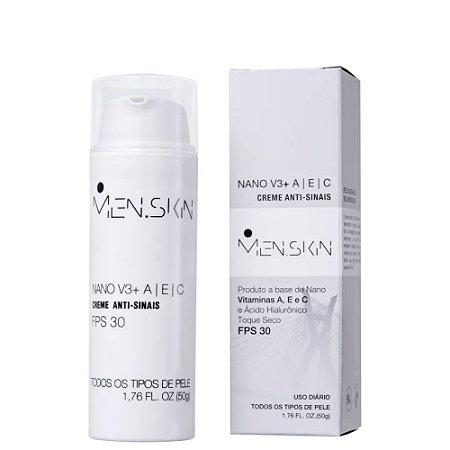 Men.Skin Nano V3+ Creme Anti-Sinais FPS30 50g