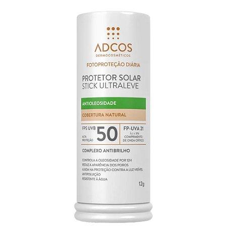 Adcos Protetor Solar Stick Ultraleve Antioleosidade FPS 50 Peach 12g