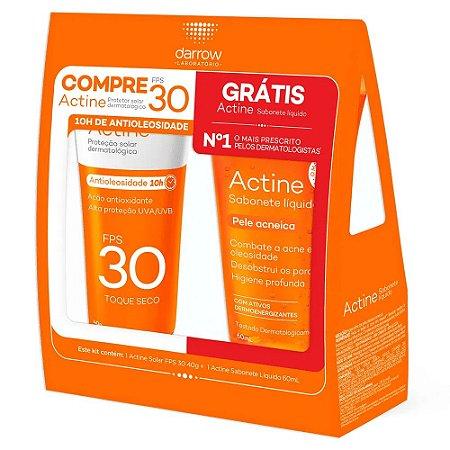 Darrow Actine Kit Protetor Solar sem Cor FPS 30 40g + Sabonete Líquido Facial 60g