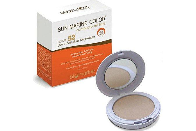 Biomarine Sun Marine Color Compacto FPS52 Bege 12g