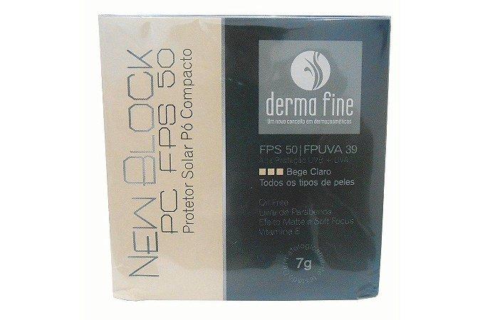 Derma Fine New Block Pc FPS50 Pó Compacto Bege Claro 7g