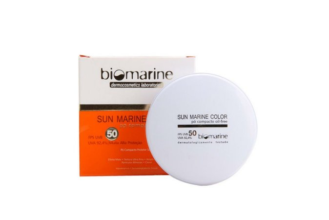 Biomarine Sun Marine Color Pó Compacto FPS50 Natural 12g