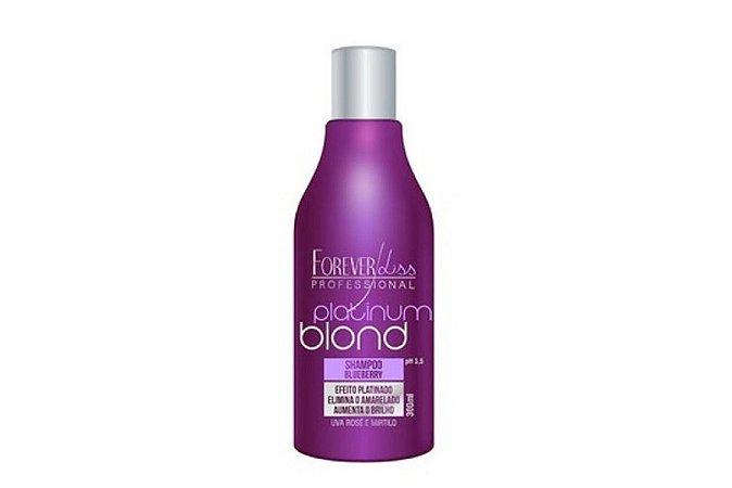 Forever Liss Platinum Blond Shampoo Matizador Blue 300ml