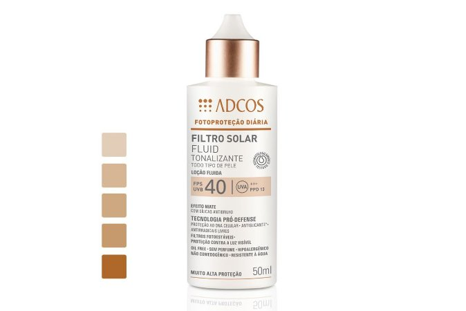 Adcos Filtro Solar Fluid Tonalizante FPS40 Bronze 50ml