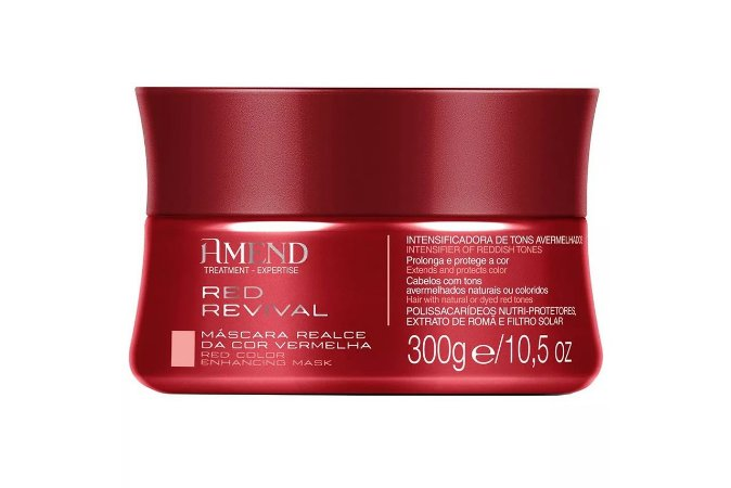 Amend Mascara Realce da Cor Red Revival 300g