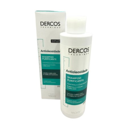 Vichy Dercos Shampoo Antioleosidade Cabelos Oleosos 200ml