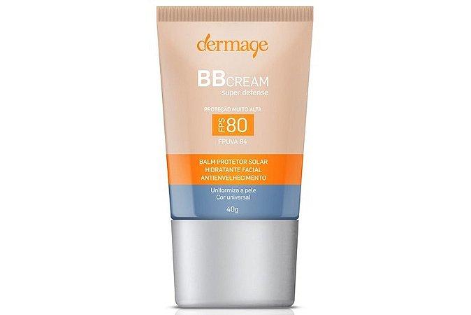 Dermage BB Cream Hidratante Facial Antienvelhecimento FPS80 40g
