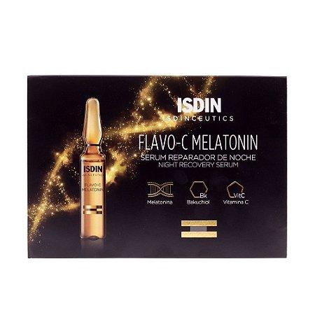 Isdin Isdinceutics Sérum Facial Flavo-C Melatonin Noturno 10 Ampolas