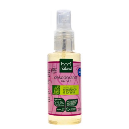 Boni Natural Desodorante Spray Melaleuca e Toranja 120ml