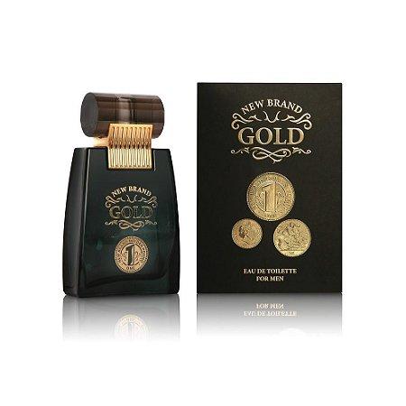 New Brand Prestige Gold For Perfume Masculino Eau de Toilette 100ml