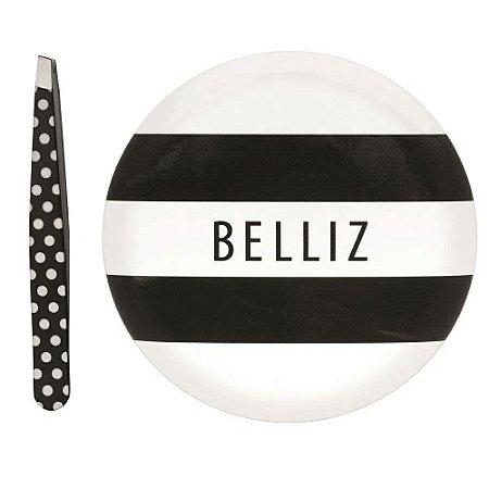 Belliz Kit Espelho com Pinca Black e White
