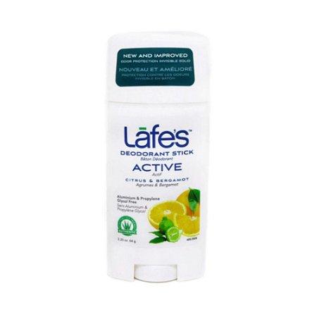 Lafes Desodorante Natural Stick Retrátil Active 64g
